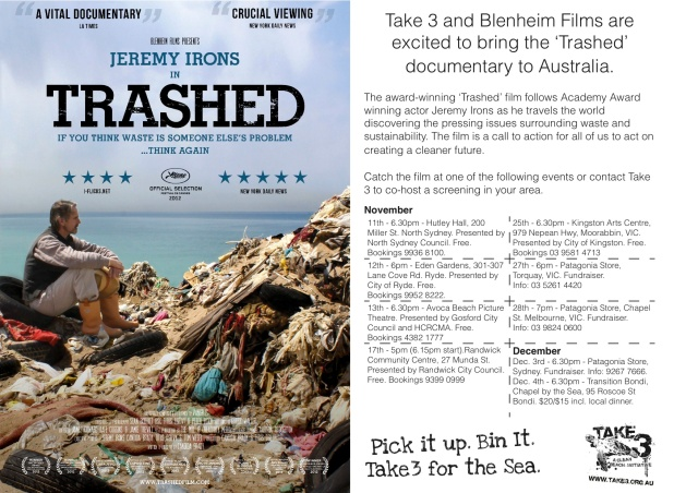 Trashed screenings with Take 3 Nov. 13